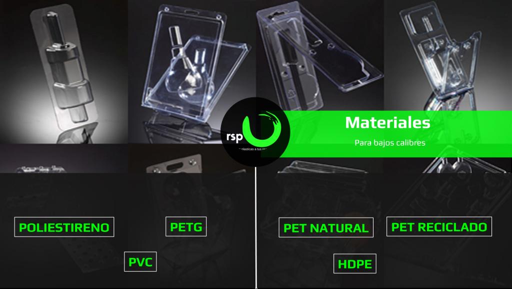 empaque y embalaje de plástico para productos termoformados